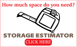 Self storage space calculator